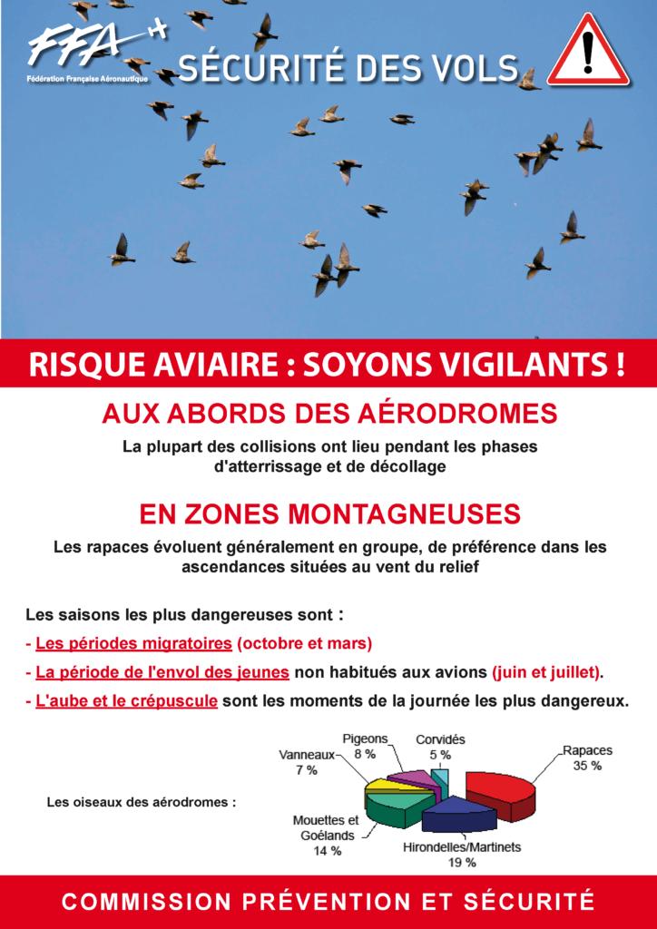 Affiche de prévention du risque aviaire de la FFA