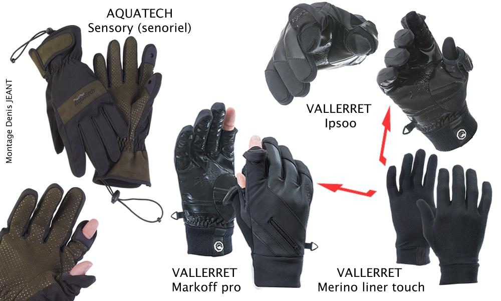 Gants-mitaines pour la photo Aquatech et Vallerret